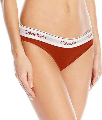 09e3b169ec2e Calvin Klein Calvin Klein Womens Regular Modern Cotton Bikini Panty, Orange/ White, XS