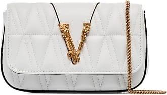 Versace Bolsa tiracolo matelassê Virtus - Branco