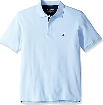 Nautica Mens Classic Fit Short Sleeve Solid Performance Deck Polo Shirt, Noon Blue, XL Tall