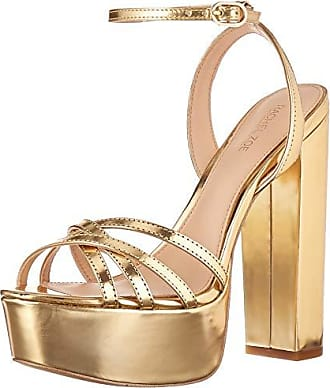 Rachel Zoe Womens Charlotte Platform Sandal Heeled, Light Gold, 9.5 M US
