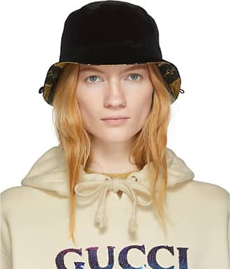 ba1c4ee5e Gucci Reversible Black Velour Bucket Hat