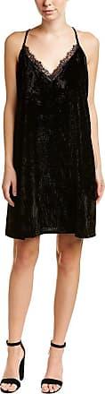 French Connection Womens Lorraine Velvet Strappy V Nk Dress, Black, 8