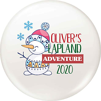 Flox Creative 77mm Pin Badge Personalised Lapland Adventure Snowman Snowflake