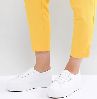 44b70fcc08a Superga 2790 Linea Flatform Chunky Trainers In White
