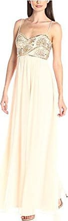 JS Collections Womens Long Slip Dress with Beaded Bodice, Rose, 4