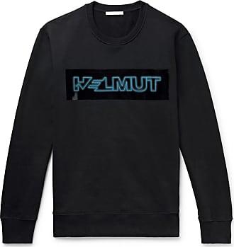 Helmut Lang Pigeon Logo-print Loopback Cotton-jersey Sweatshirt - Black
