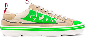 GCDS Fashion Man SS20M01000213 Green Leather Sneakers | Spring Summer 20