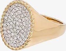 Yvonne Léon Womens Metallic 18k Yellow Gold Diamond Signet Ring