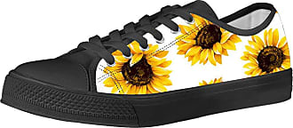 Coloranimal Black White Trainer Gym Low-top Canvas Shoe Sunflower Stylish Unisex Sport Running Casual DailyShoes Walker Korean Vulcanize Leisure Flats Footwear EU
