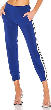 Norma Kamali Side Stripe Boot Pant in Blue