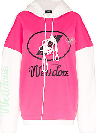 We11done Remake oversized logo hoodie - PINK