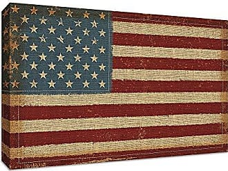 Tangletown Fine Art USA Strong Gallery Wrap Canvas Red/White/Blue