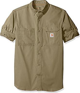 Carhartt Work in Progress Mens Force Ridgefield Long Sleeve Shirt (Regular and Big & Tall Sizes), Burnt Olive, 2X-Large