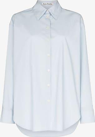 Acne Studios Womens Blue Oversized Tailored Shirt
