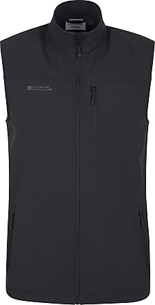 Mountain Warehouse Grasmere Mens Gilet - Lightweight Body Warmer, Water Resistant Outdoor Jacket, Breathable Running Vest Gilet, Pockets - for Winter Cycling & Hiking Bl