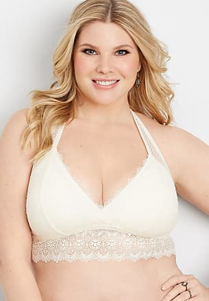 d769bf76e81 Maurices Plus Size - Knit Lace And Mesh Racerback Bralette