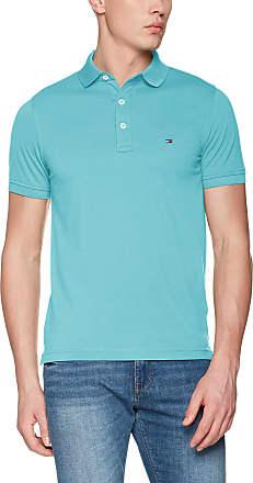 TOMMY HILFIGER Men's Tommy Slim Polo Shirt, Blue (Alaskan Blue 430), L