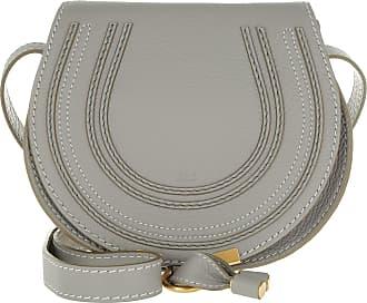 Chloé Marcie Crossbody Bag Small Cashmere Grey Umhängetasche grau