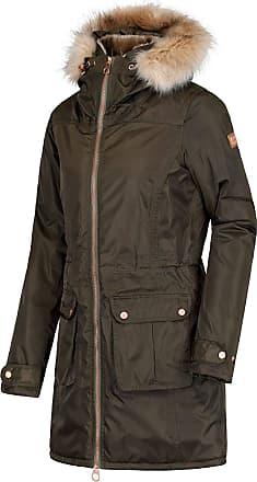 Regatta Womens/Ladies Lucasta Full Length Hooded Jacket (UK Size 12) (Dark Khaki)
