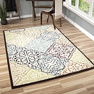 Orian Rugs 2310 Veranda Indoor/Outdoor Whitten Area Rug, 52 x 76, Multicolor