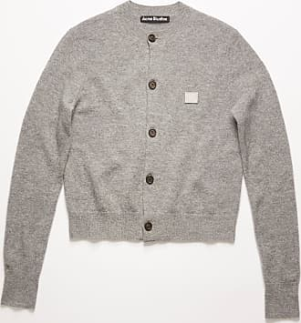 Acne Studios FA-WN-KNIT000001 Grey Melange Crew neck cardigan