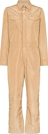 Ganni collared utility jumpsuit - Brown