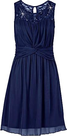 Bodyflirt Dam Trikåklänning med spetsdetalj i blå utan ärm - BODYFLIRT 052e6c45b182a