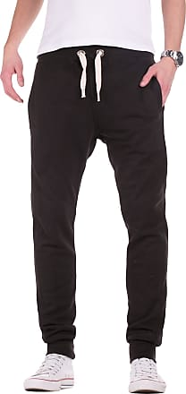 Yazubi Mens Trousers Bottoms Gym Tracksuit Running Edward Sweatpants Slim Fit Sports Pockets Dark Jet Matte, Black (Black 194008), M