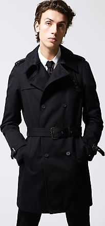 The Kooples Navy blue trench coat in cotton gabardine - MEN