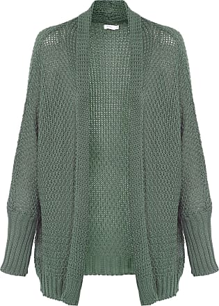 Blq Basiq Cardigan Tricot Básico - Verde