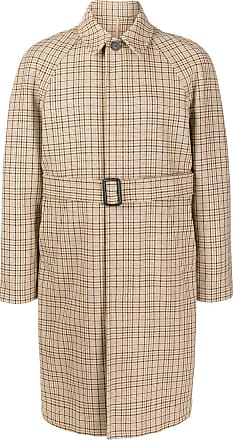 Sandro checked trench coat - NEUTRALS