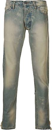 Rhude Calça jeans com acabamento puído - Azul