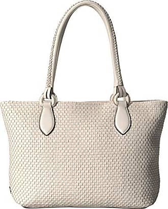 8201bfa2a5 Cole Haan Womens Bethany Woven Leather Zip Tote, ivory