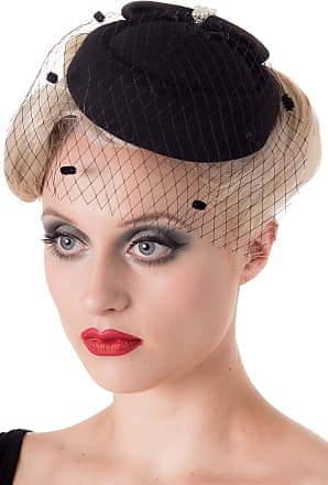 Banned Judy Vintage Retro Pillbox Hat - 7 Colours Available - Mustard/One Size