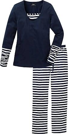 Bonprix Dam Pyjamas i blå lång ärm - bpc collection fe5ff4821e8a8