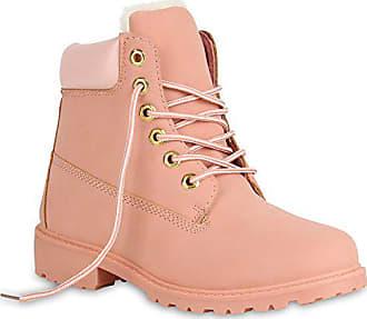 b17429d6075fc4 Stiefelparadies Damen Worker Boots Warm Gefütterte Stiefeletten Outdoor  Schuhe 152003 Rosa Berkley 36 Flandell