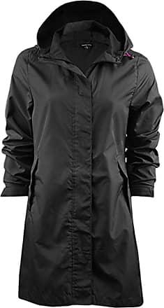 Love my Fashions Ladies Bravesoul Raver Lightweight Foldaway Hooded Raincoat Jacket Black