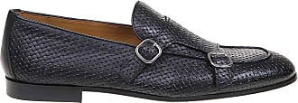 Doucal's Woven Leather Monk Straps, 42.5 Black