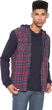 NICOBOCO Camisa Nicoboco Reta Axe Azul-marinho/Vermelho
