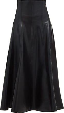 Norma Kamali Grace High-rise Coated-neoprene Midi Skirt - Womens - Black