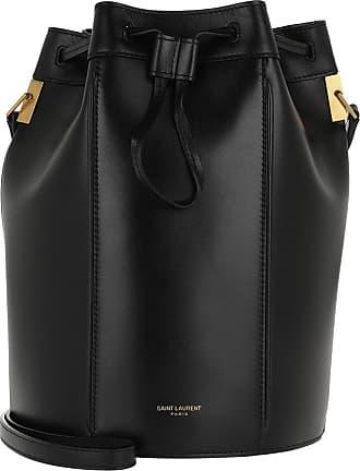 Saint Laurent Talitha Medium Bucket Bag Smooth Leather Black Beuteltasche schwarz