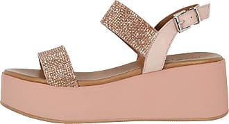 Inuovo Womens Shoes Sandal Leather And Rhinestone Wedge Blush 602005 Pink Size: 8.5 UK