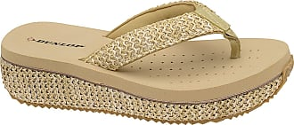 Dunlop Ladies Dunlop Toe Post Low Wedge Flip Flops Raffia Beach Summer Sandals Shoes Size 3-8