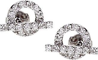 Hermès Diamond Stud 18k White Gold Earrings