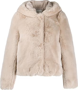Sandro hooded fitted jacket - NEUTRALS
