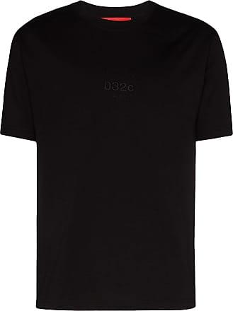 032c Camiseta com logo bordado - Preto