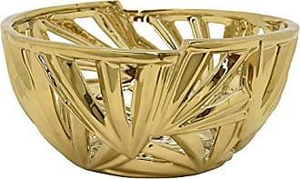 Three Hands 5 Ceramic Pierced Bowl in Gold