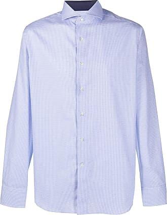 Canali Camisa com estampa - Azul