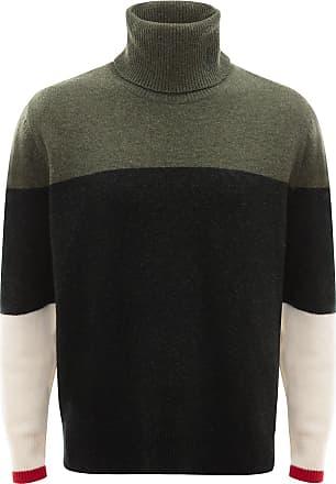 J.W.Anderson Suéter color block de tricô - Verde