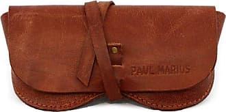 79b1a0016525d PAUL MARIUS brillenetui aus leder geeignet für alle formate Bei Vintage-Stil  farbe braun